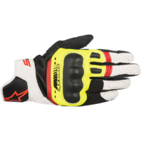 Mens Alpinestars Black Yellow White SP5 Motorcycle Riding Street Racing Gloves
