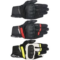Mens Alpinestars Leather Booster Pair Motorcycle Riding Street Racing Gloves