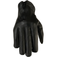 Womens Z1R 7MM black leather motorcycle biker street gloves