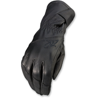 Womens Z1R Long Cuff Black Leather Recoil Motorcycle Riding Street Racing Gloves