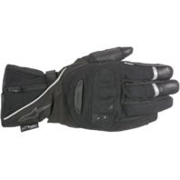 Mens Alpinestars Black Leather Primer Drystar Motorcycle Riding Street Gloves