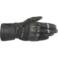 Mens Alpinestars Black Leather Patron Motorcycle Riding Street Racing Gloves