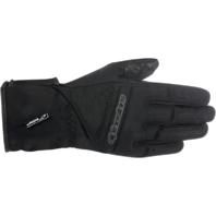 Womens Alpinestars Black Leather SR3 Drystar Motorcycle Riding Street Gloves