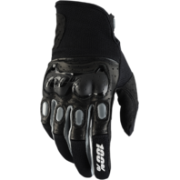 Mens 100 % Black Gray Derestricted Leather Vented Offroad Racing Riding Gloves