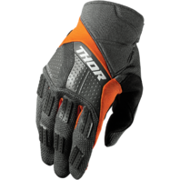 Mens Thor Gray Orange S7 Rebound Textile Offroad Racing Motorcycle Riding Gloves
