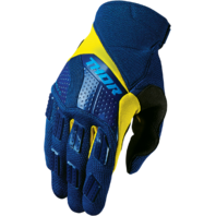 Mens Thor Blue Yellow S7 Rebound Textile Offroad Racing Motorcycle Riding Gloves