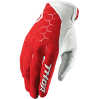 Mens Thor Red White S7 Draft Textile Off Road Racing Motorcycle Riding Gloves