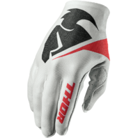 Mens Thor White Textile S7 Flection Invert Off Road Riding Racing Gloves