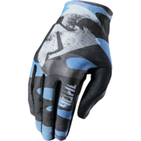 Mens Thor Black Blue Void Vented Covert Textile Offroad Riding Racing Gloves
