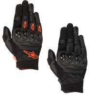 Mens Alpinestars S8 Megawatt Textile Motorcycle Riding Off road Racing Gloves