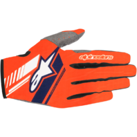 Mens Alpinestars Orange Blue Neo Textile Motorcycle Riding Street Racing Gloves