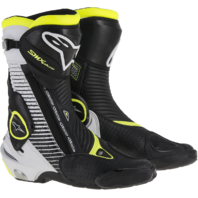 Mens Alpinestars S-MX Plus Black Yellow White Motorcycle Street Racing Boots