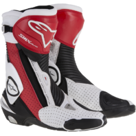 Mens Alpinestars SMX Plus Textile Black Red White Motorcycle Street Racing Boots