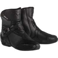 Mens Alpinestars Black SMX-3 Microfiber Motorcycle Riding Street Racing Boots