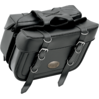 All American Rider Black Box Style Slant Universal Saddlebags for Harley