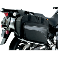 Nelson-Rigg plain black universal CL-855 touring street saddle bag