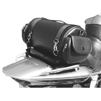 Saddlemen EXR1000 Drifter Synthetic Leather Sissy Bar Motorcycle Roll Bag