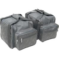 Saddlemen black textile trike trunk bags 09-16 Harley FLRT FLHXXX FLHTCUTG