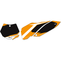Factory Effex Pair Black Vinyl Graphic Number Plate for 16-18 KTM 125SXF 250SXF