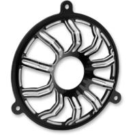 Arlen Ness Black 10 Gauge Front Fairing Speaker Grills 14-19 Harley Touring FLHX