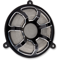 Arlen Ness Black Beveled Front Fairing Speaker Grills 14-18 Harley Touring FLHX
