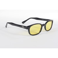 1 pair of kd's yellow lens old school biker sunglasses for Harley rider 100% UV