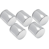 Drag Specialties Chrome 5 Pack Oil Filter for 99-17 Harley Dyna Touring Softail
