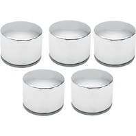 Drag Specialties Chrome 5 Pack Oil Filter for 80-84 Harley Dyna Touring XLH FXS