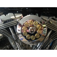 JT's Cycles Genuine .50 Caliber BMG Bullets Chrome Air Cleaner Cover Harley FXR