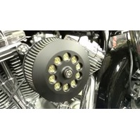 JT's Cycles .300 Caliber Bullets Air Cleaner Cover Powder Coat Black Harley fxr