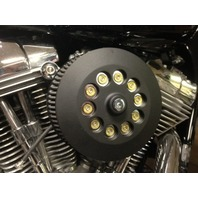 JT's Cycles .44 Caliber Bullets Air Cleaner Cover Powder Coat Black Harley FXR
