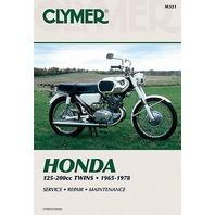 Clymer REPAIR MANUAL HONDA 65-78 125-200CC CL CB CD