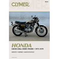 Clymer Honda 350-550 4 Cycle Service Manual 72-78 CB350 CB400 CB550 Super Sport