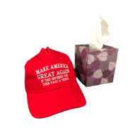 Easily Offended Tissue Hat box cover Make America Great Again Trump Snowflake