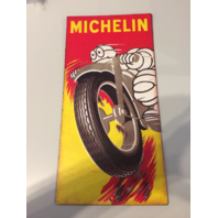 Michelin Man 15x8 Over the Road Raised Embossed Tin Motorcycle Man Cave Sign