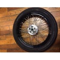 """Michelin Black Scorcher 40 Spoke Front 19"""" Tire Wheel Set 2015 Harley Street Bob"""