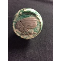 Vintage Repo Indian Motorcycle Green White Marble Hand Shift Knob Chief Scout