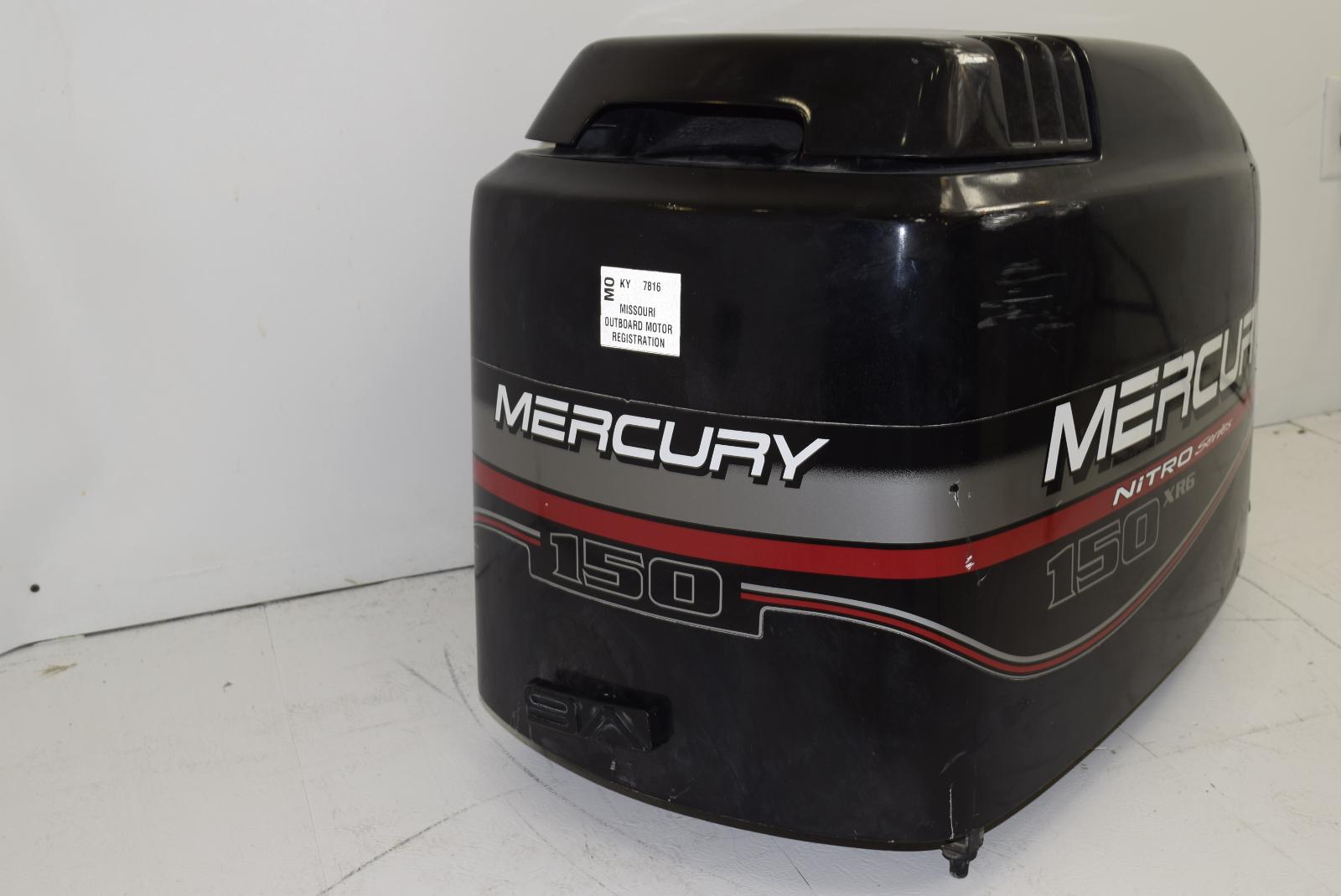 mercury nitro series xr6 hood top cowl 827328t7 1996 2006 135 140 150 175 200 hp ebay. Black Bedroom Furniture Sets. Home Design Ideas