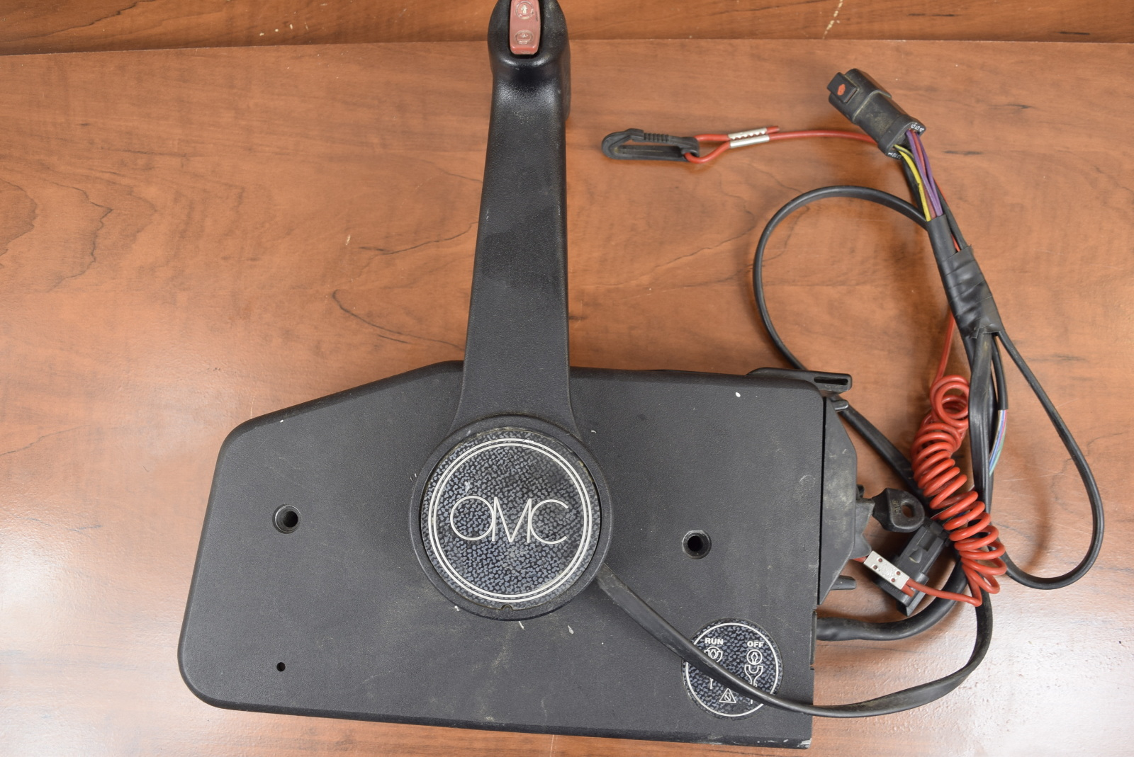 Evinrude Control Box Parts : Omc johnson evinrude control box with trim switch and key