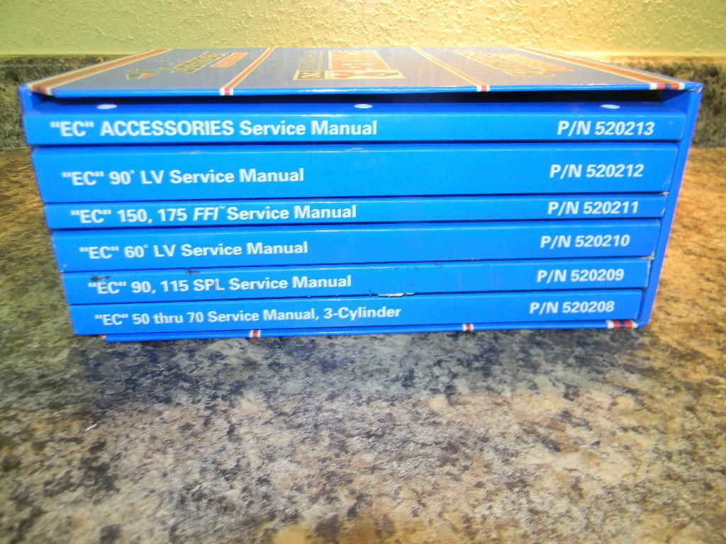 johnson omc evinrude 1998 service manual set of 6 520208 520209 rh southcentraloutboards com Evinrude E-TEC 90 1985 Evinrude 90