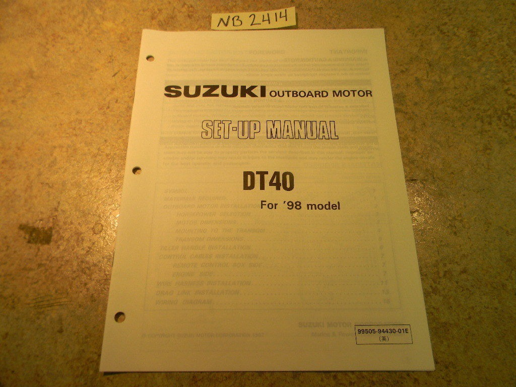Dt 30 Suzuki Outboard Manual 1988 Motor Parts