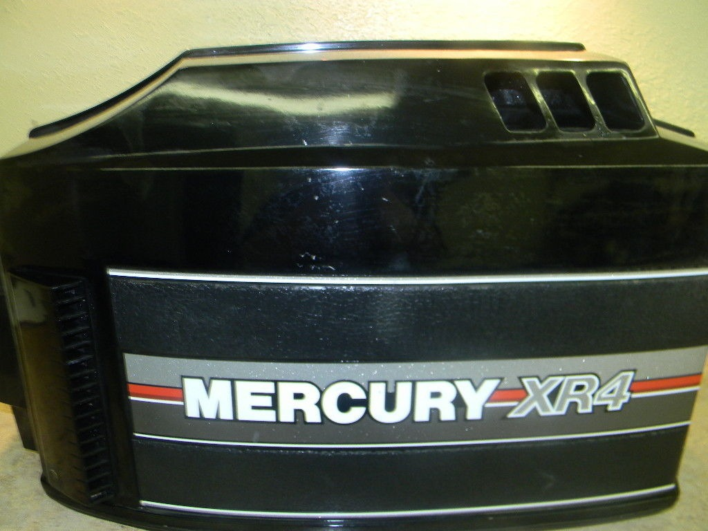 Mercury 150 hp xr4 hood top cowl cowling 1989 1995 135 150 for Mercury outboard motor cowling