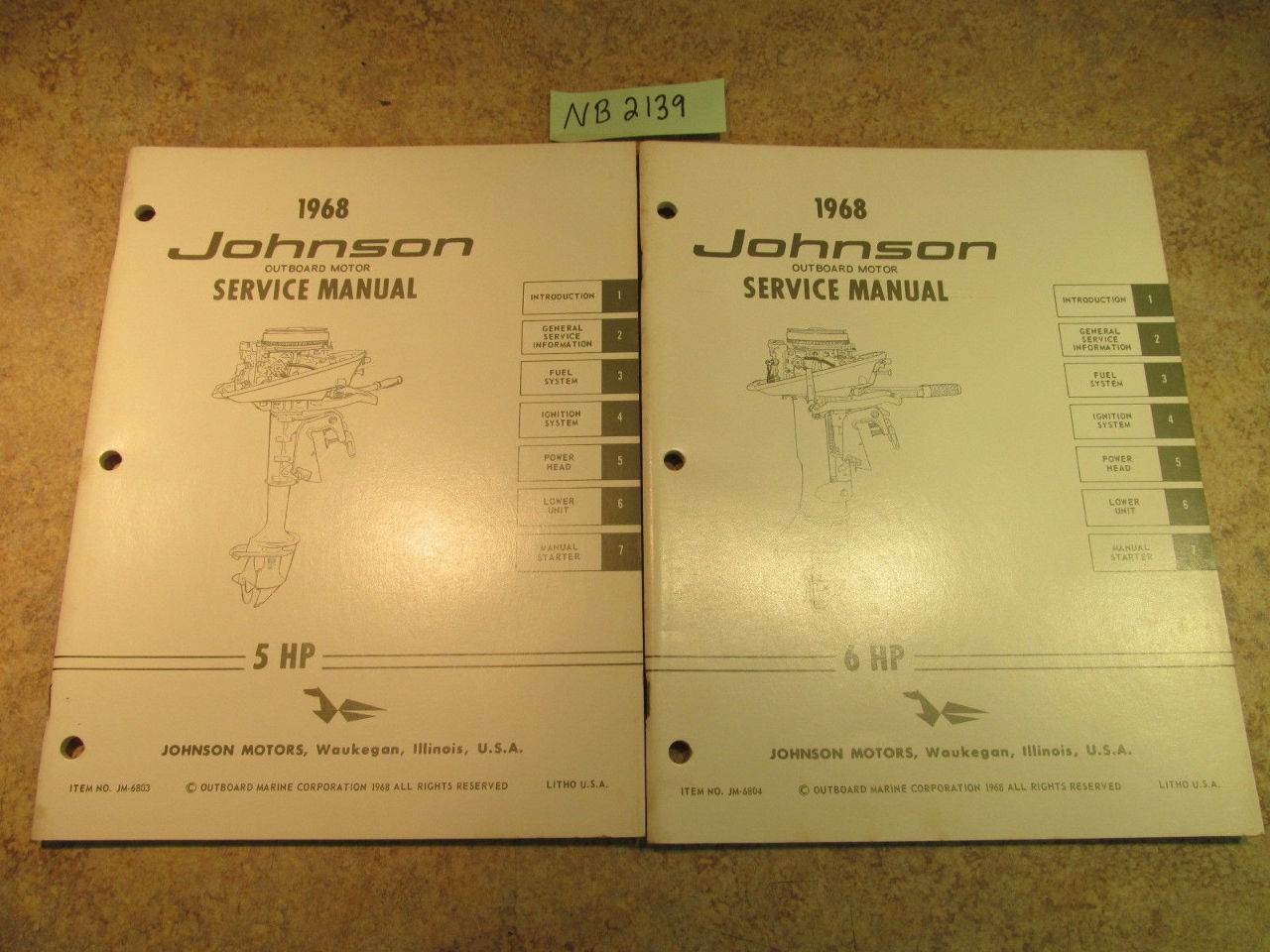1968 johnson evinrude outboard service manual year set 1 5. Black Bedroom Furniture Sets. Home Design Ideas