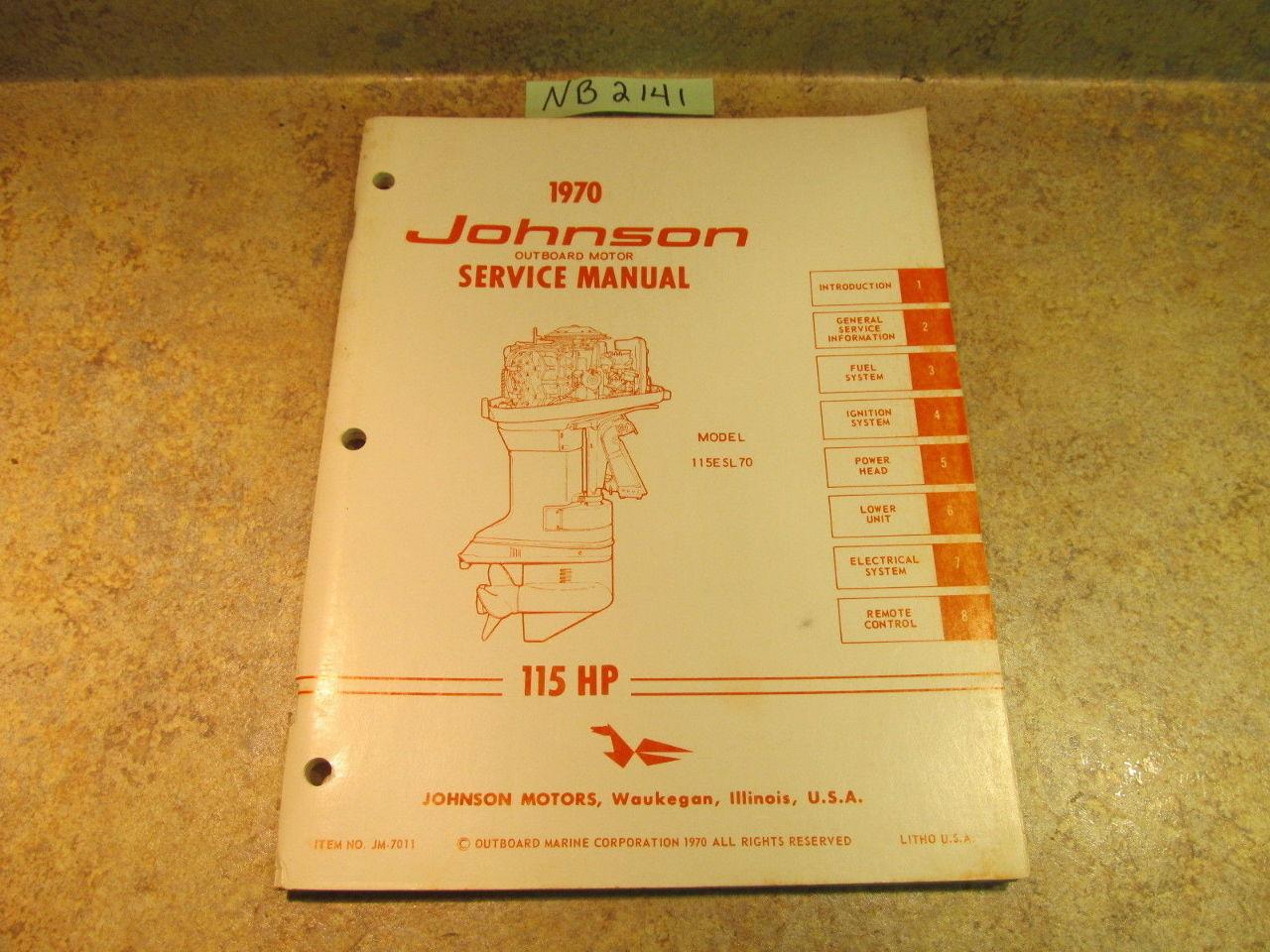 johnson 115 hp outboard motor manual