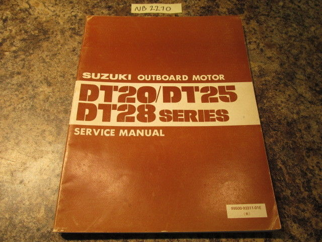 1983 Suzuki Outboard Dt20  25  U0026 Dt28 Series Service Manual