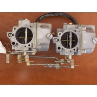 Johnson Evinrude Carburetor Set Assembly 1977 55 HP 387917 387918