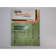 1976 Johnson 35 HP Service Manual 35R76 35RL76 35E76 35EL76