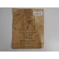 Eska Owner's Operation Manual 9.5 HP Model 1925B Publication# 97736