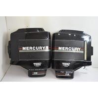 1988-93 Mercury & Mariner Top Cowl Clam Shell Set 9264A2 9263A1 100 115 HP 4 Cyl
