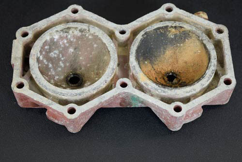Before photo of cylinder head